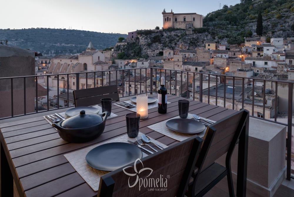 Platone Appartamento per vacanze a Scicli vista panoramica